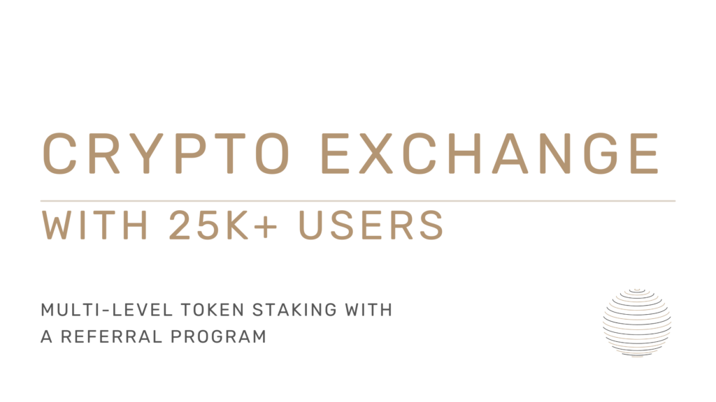 Crypto exchange with token staking for sale