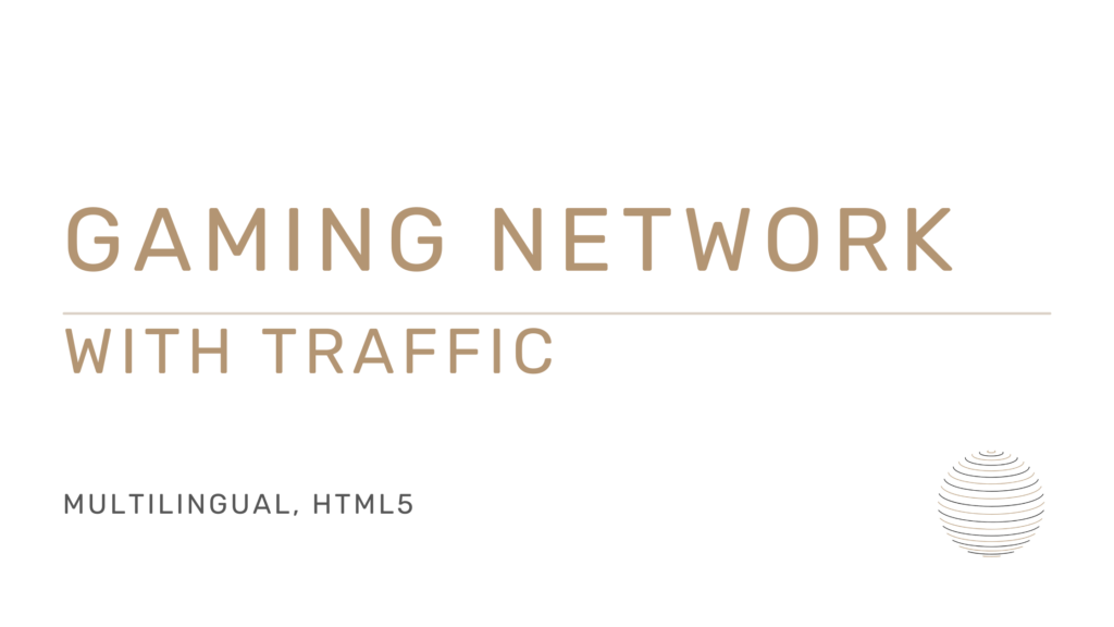 Multilingual gaming network with traffic for sale