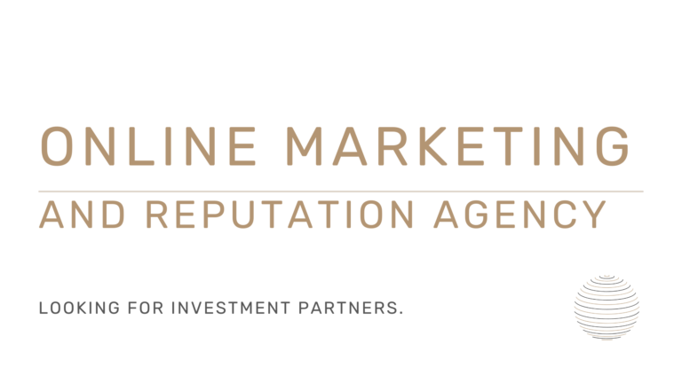 Online marketing and reputation agency looking for investors